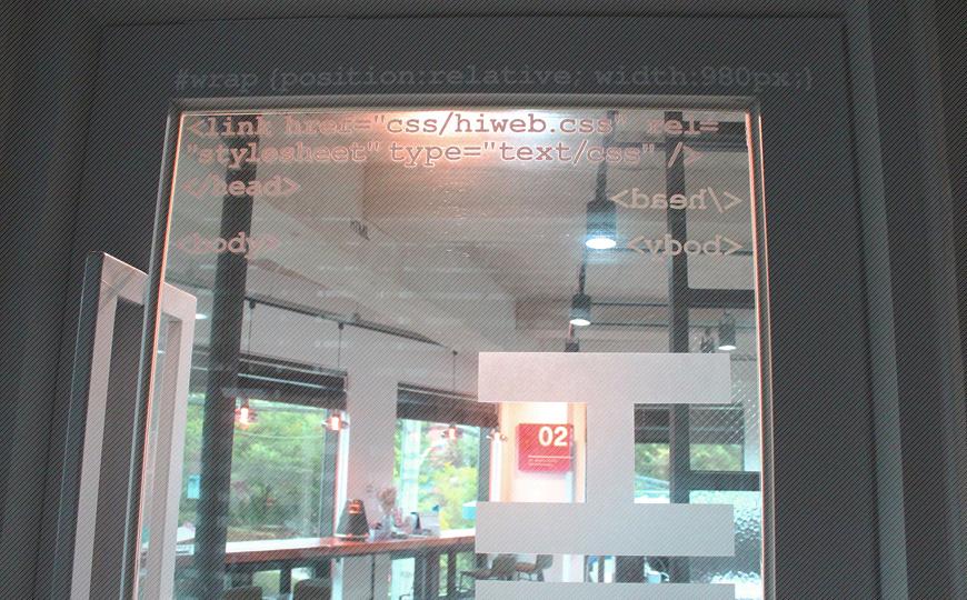 HIWEB 3층 본사입구 전경
